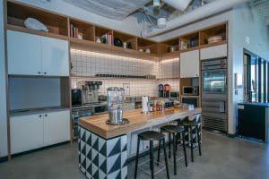 WeWork kitchen