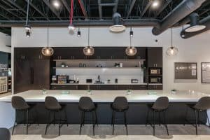 Kitchen Bar at RAM's Financial Partners Credit Union Project