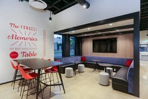Lounge at RAM's Financial Partners Credit Union Project