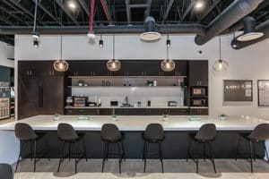 Kitchen at RAM's Financial Partners Credit Union Project