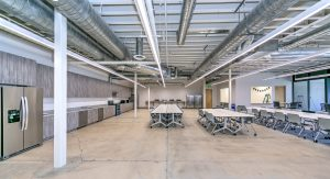 lunchroom at RAM's project, Portview Prep